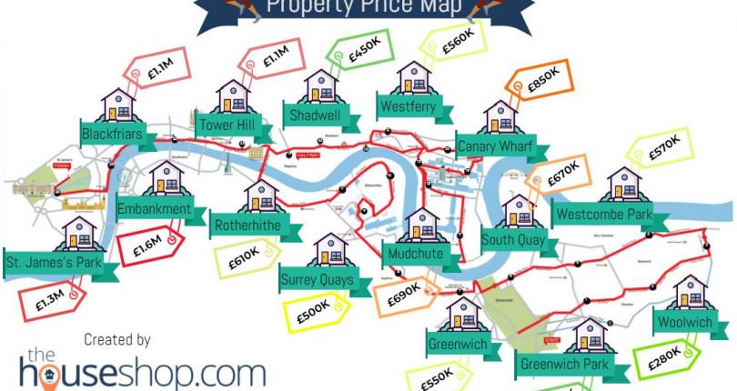 London Marathon Property Price Map